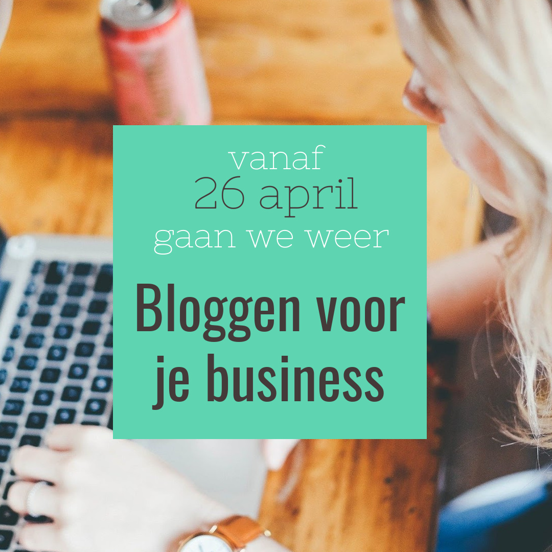 Bloggen voor je business 10 dagen april 2021
