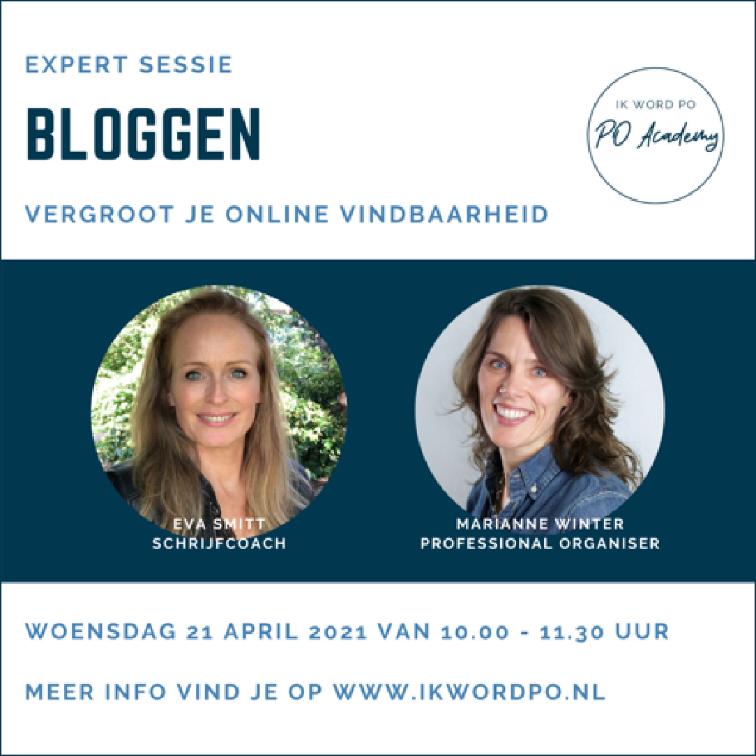 expertsessie masterclass bloggen 21 april 2021
